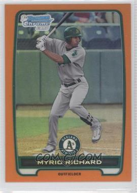 2012 Bowman - Chrome Prospects - Orange Refractor #BCP2 - Myrio Richard /25