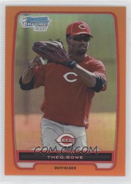 2012 Bowman - Chrome Prospects - Orange Refractor #BCP208 - Theo Bowe /25