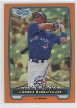 2012 Bowman - Chrome Prospects - Orange Refractor #BCP83 - Jacob Anderson /25