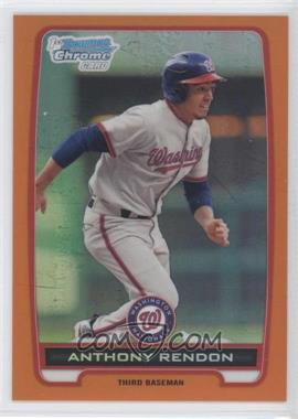 2012 Bowman - Chrome Prospects - Orange Refractor #BCP88 - Anthony Rendon /25