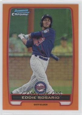 2012 Bowman - Chrome Prospects - Orange Refractor #BCP9 - Eddie Rosario /25