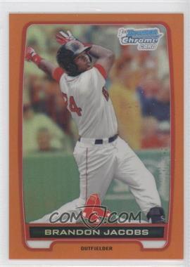 2012 Bowman - Chrome Prospects - Orange Refractor #BCP93 - Brandon Jacobs /25
