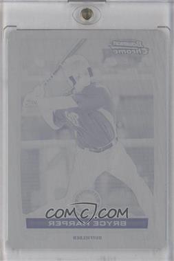 2012 Bowman - Chrome Prospects - Printing Plate Black #BCP10 - Bryce Harper /1