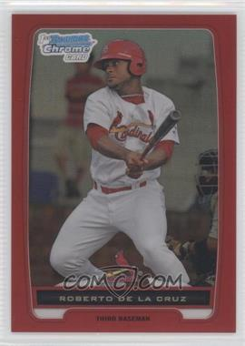 2012 Bowman - Chrome Prospects - Red Refractor #BCP152 - Roberto De La Cruz /5