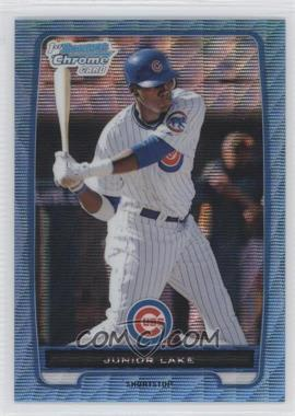 2012 Bowman - Chrome Prospects - Redemption Refractor Blue Wave #BCP213 - Junior Lake