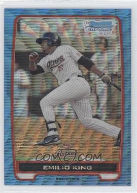 2012 Bowman - Chrome Prospects - Redemption Refractor Blue Wave #BCP65 - Emilio King
