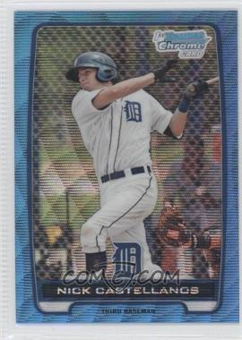 2012 Bowman - Chrome Prospects - Redemption Refractor Blue Wave #BCP78 - Nick Castellanos
