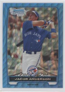 2012 Bowman - Chrome Prospects - Redemption Refractor Blue Wave #BCP83 - Jacob Anderson