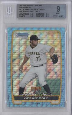 2012 Bowman - Chrome Prospects - Redemption Refractor Blue Wave #BCP86 - Gerrit Cole [BGS 9]