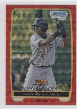 2012 Bowman - Chrome Prospects - Redemption Refractor Red Wave #BCP182 - Gregory Polanco /25