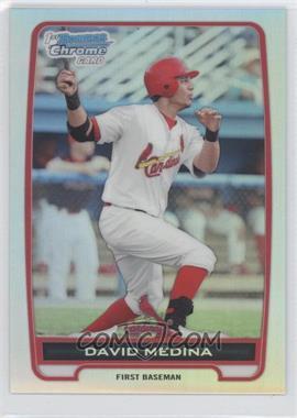 2012 Bowman - Chrome Prospects - Refractor #BCP61 - David Medina /500