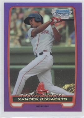 2012 Bowman - Chrome Prospects - Retail Purple Refractor #BCP105 - Xander Bogaerts /199