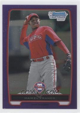 2012 Bowman - Chrome Prospects - Retail Purple Refractor #BCP112 - Maikel Franco /199