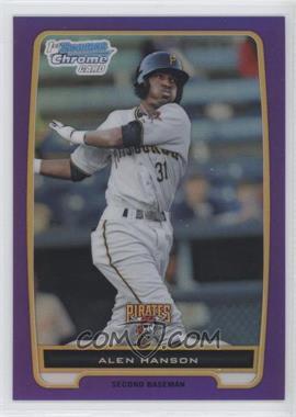 2012 Bowman - Chrome Prospects - Retail Purple Refractor #BCP143 - Alen Hanson /199