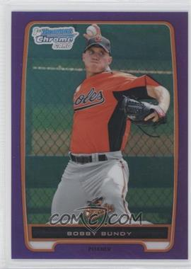 2012 Bowman - Chrome Prospects - Retail Purple Refractor #BCP198 - Bobby Bundy /199