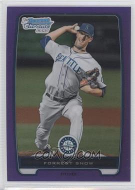 2012 Bowman - Chrome Prospects - Retail Purple Refractor #BCP207 - Forrest Snow /199