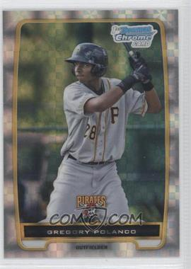 2012 Bowman - Chrome Prospects - Retail X-Fractor #BCP182 - Gregory Polanco