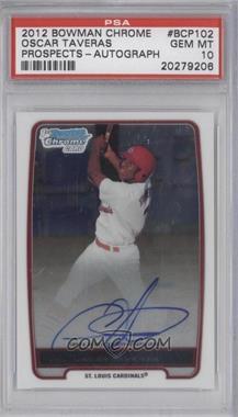 2012 Bowman - Chrome Prospects Certified Autographs - [Autographed] #BCP102 - Oscar Taveras [PSA10]