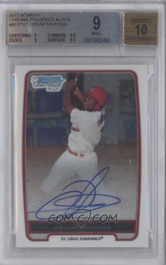 2012 Bowman - Chrome Prospects Certified Autographs - [Autographed] #BCP102 - Oscar Taveras [BGS9]