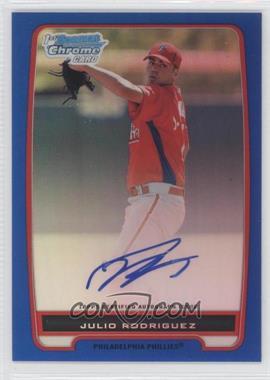 2012 Bowman - Chrome Prospects Certified Autographs - Blue Refractor [Autographed] #BCP101 - Julio Rodriguez /150