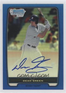 2012 Bowman - Chrome Prospects Certified Autographs - Blue Refractor [Autographed] #BCP52 - Dean Green /150
