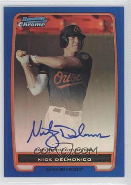 2012 Bowman - Chrome Prospects Certified Autographs - Blue Refractor [Autographed] #BCP92 - Nick Delmonico /150