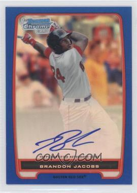 2012 Bowman - Chrome Prospects Certified Autographs - Blue Refractor [Autographed] #BCP93 - Brandon Jacobs /150