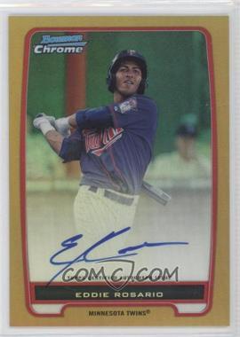 2012 Bowman - Chrome Prospects Certified Autographs - Gold Refractor [Autographed] #BCP9 - Eddie Rosario /50