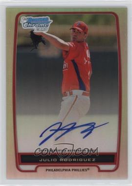 2012 Bowman - Chrome Prospects Certified Autographs - Refractor #BCP101 - Julio Rodriguez /500