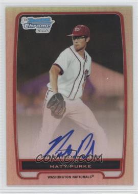2012 Bowman - Chrome Prospects Certified Autographs - Refractor #BCP80 - Matt Purke /500