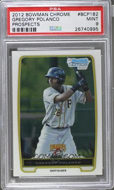 2012 Bowman - Chrome Prospects #BCP182 - Gregory Polanco [PSA 9]