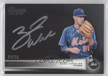 2012 Bowman - Multi-Product Insert Bowman Black Collection - [Autographed] #BBC-ZW - Zack Wheeler /25