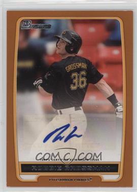 2012 Bowman - Retail Prospect Certified Autographs - Orange [Autographed] #BPA-RG - Robbie Grossman /250