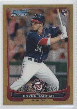 2012 Bowman Chrome - [Base] - Gold Refractor #214 - Bryce Harper /50