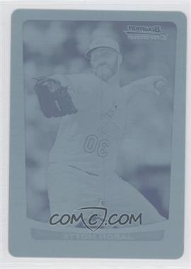 2012 Bowman Chrome - [Base] - Printing Plate Cyan #80 - Jason Motte /1