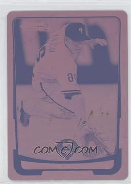 2012 Bowman Chrome - [Base] - Printing Plate Magenta #197 - Chase Utley /1