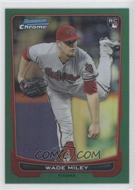 2012 Bowman Chrome - [Base] - Rack Pack Green Refractor #159 - Wade Miley