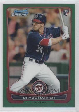 2012 Bowman Chrome - [Base] - Rack Pack Green Refractor #214 - Bryce Harper