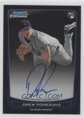 2012 Bowman Chrome - Rookie Certified Autographs - [Autographed] #212 - Drew Pomeranz