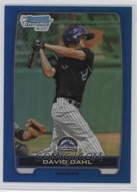 2012 Bowman Draft Picks & Prospects - Chrome Draft Picks - Blue Refractors #BDPP104 - David Dahl /250