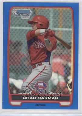 2012 Bowman Draft Picks & Prospects - Chrome Draft Picks - Blue Refractors #BDPP144 - Chad Carman /250