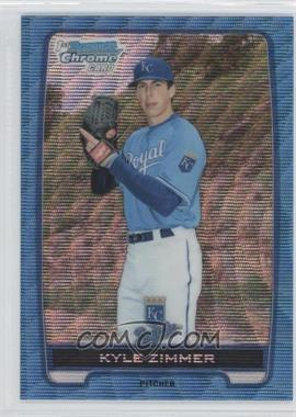 2012 Bowman Draft Picks & Prospects - Chrome Draft Picks - Blue Wave Refractors #BDPP10 - Kyle Zimmer
