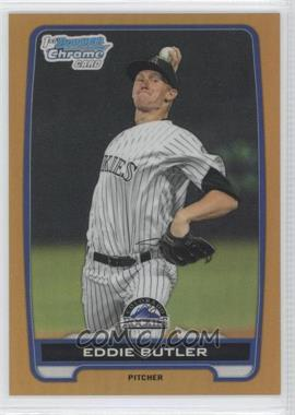 2012 Bowman Draft Picks & Prospects - Chrome Draft Picks - Gold Refractors #BDPP103 - Eddie Butler /50