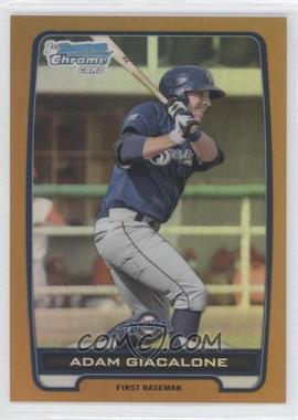 2012 Bowman Draft Picks & Prospects - Chrome Draft Picks - Gold Refractors #BDPP120 - Adam Giacalone /50