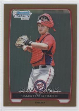 2012 Bowman Draft Picks & Prospects - Chrome Draft Picks - Gold Refractors #BDPP139 - Austin Chubb /50