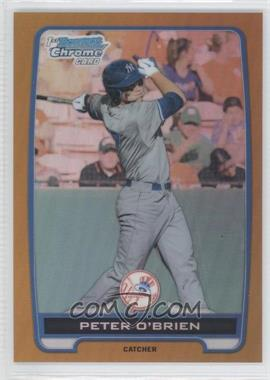 2012 Bowman Draft Picks & Prospects - Chrome Draft Picks - Gold Refractors #BDPP40 - Peter O'Brien /50