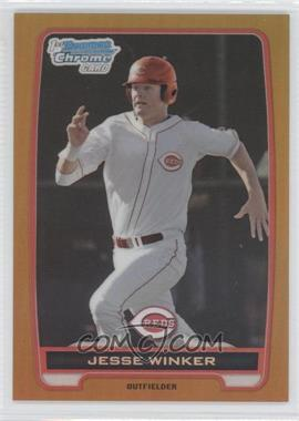 2012 Bowman Draft Picks & Prospects - Chrome Draft Picks - Gold Refractors #BDPP8 - Jesse Winker /50