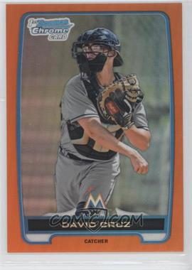2012 Bowman Draft Picks & Prospects - Chrome Draft Picks - Orange Refractors #BDPP152 - David Cruz /25