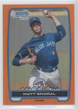 2012 Bowman Draft Picks & Prospects - Chrome Draft Picks - Orange Refractors #BDPP36 - Matt Smoral /25