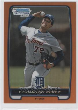 2012 Bowman Draft Picks & Prospects - Chrome Draft Picks - Orange Refractors #BDPP50 - Fernando Perez /25